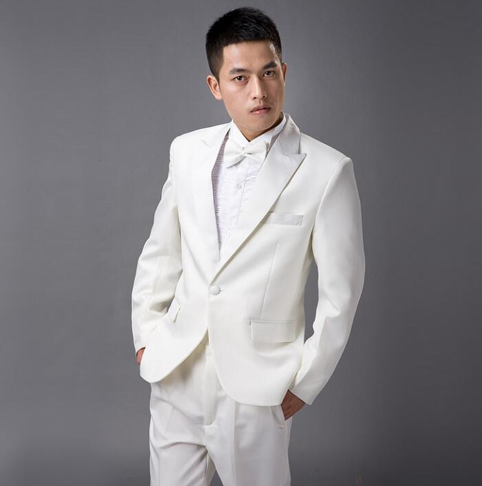 2018 Singer Korean White Dance Stage Clothing For Men Suit Set With ...
