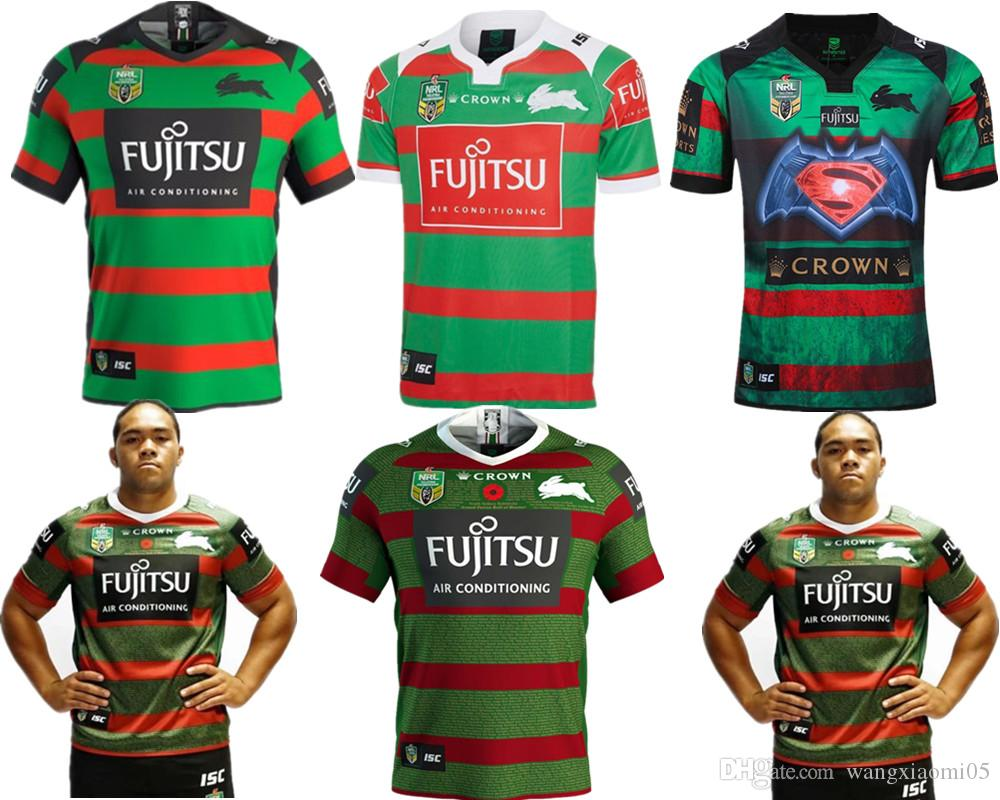 2019 2019 NRL JERSEYS Australia SOUTH SYDNEY RABBITOHS Australia NRL  National Rugby League SOUTH SYDNEY RABBITOHS 2018 ANZAC JERSEY Size S XXXL  From ... cd700d8cb