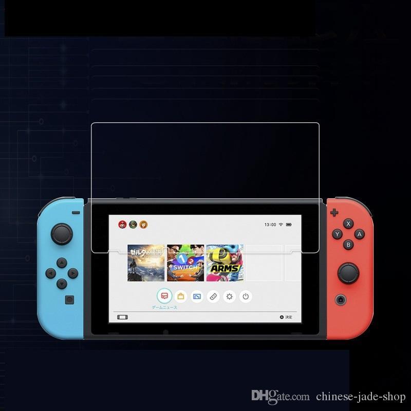 Para el protector de pantalla anti-arañazos de vidrio de cristal del interruptor Nintendo /