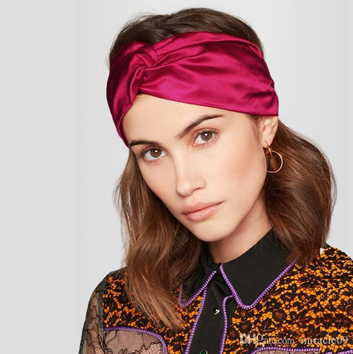 1fcd5a484d0 New Luxury 100% Silk Cross Headband Fashion Elastic Red Black Beige Hair  Bands For Women Girl Retro Turban Headwraps Gifts Hairband Fashion Headband  Luxury ...