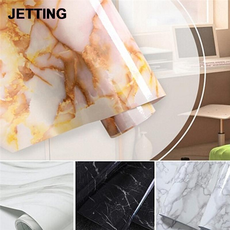 50cm Glossy Marble Diy Vinyl Decorative Film Kitchen Cabinet