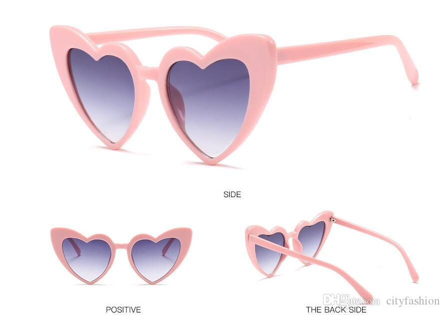 f8437bf841 Wholesale Heart Shaped Sunglasses Peach Heart Sunglasses Soft Sister  Harajuku Cute Glasses Beige Autumn And Winter New High Quality Round  Sunglasses Cheap ...