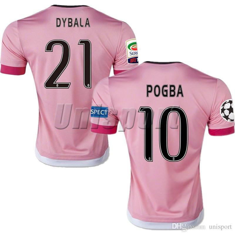 5b4ee8c87d9be 2015 16 Juventus Liga De Campeones Camisetas De Fútbol Dybala Ronaldo Pogba Futbol  Camisa Camisetas De Fútbol Camiseta Kit Maillot Juve Por Unisport