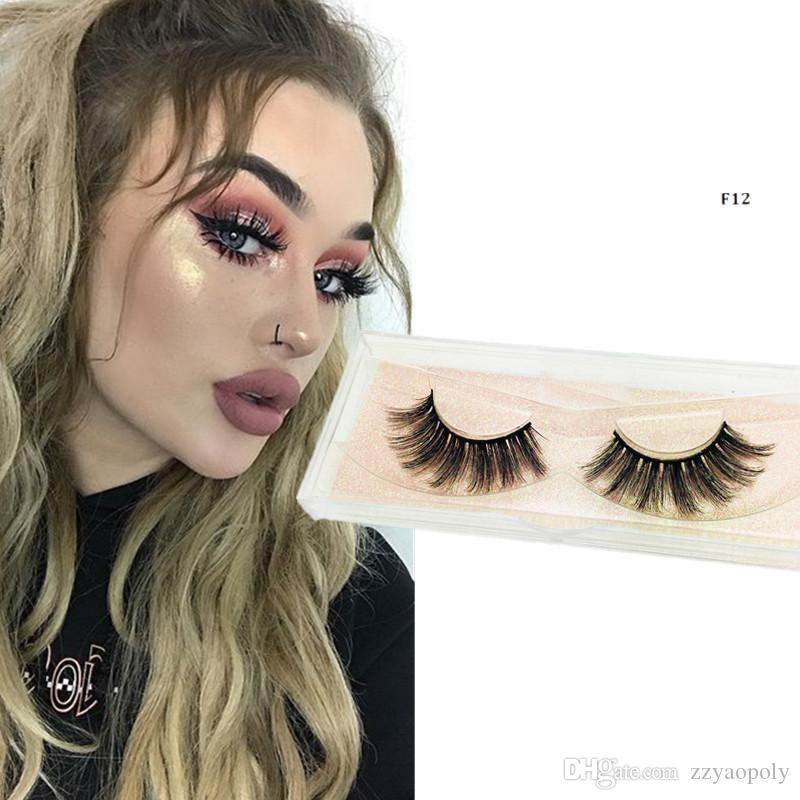 4a10bf17a2d Eyelashes Hand Made 3D Silk Faux Mink Eyelashes Natural Long Faux Mink  Lashes Vegan Cruelty Free False Lashes Extensions Fake Lashes Individual  Lashes From ...