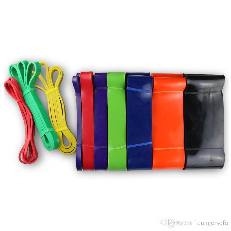 Creativo Múltiples colores Tirar la correa No tóxico Látex natural Bandas de resistencia Antidesgaste Alta fuerza elástica Rally Cinturón Moda 26rk4 B