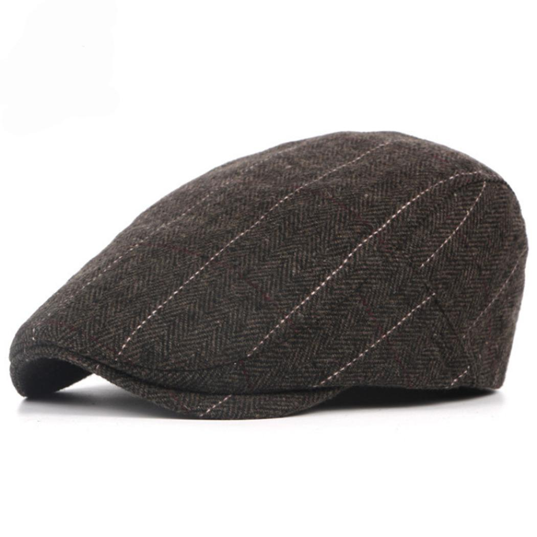 43c219a5e0a2 2019 Autumn Winter Men Cap Hats Berets British Western Style Wool Advanced Flat  Ivy Cap Classic Vintage Striped Beret From Melontwo, $41.79 | DHgate.Com