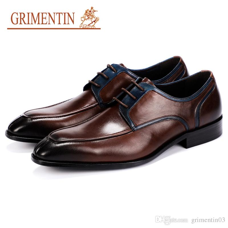 dce95cb4a GRIMENTIN Hot Sale New Italian Formal Mens Dress Shoes Fashion Designer Men  Oxford Shoes 100% Genuine Leather Businesss Wedding Male Shoes Birkenstock  Shoes ...