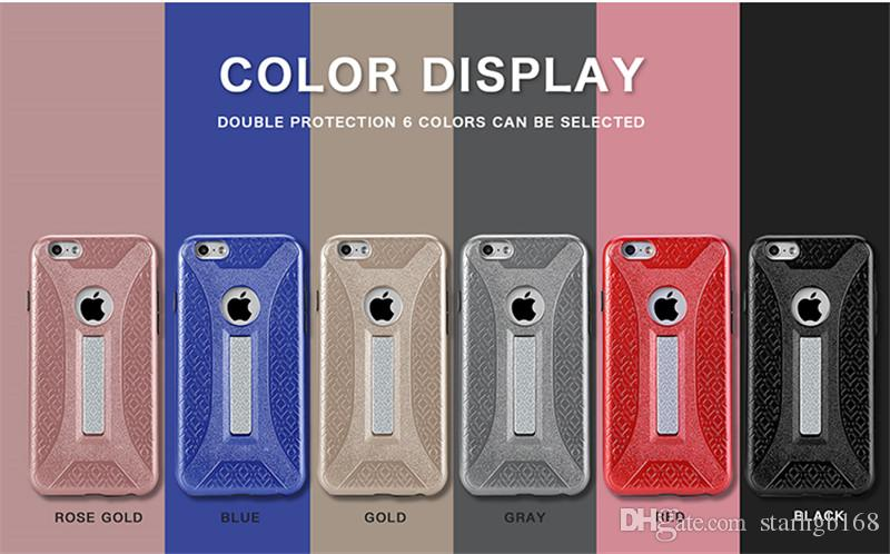 4feb8e6c6a For Iphone 7 7S 7Plus Steel Bracket Rugged Impact Rubber Matte Shockproof  Phone Case Samsung Galaxy Note 8 Case Factory Direct Sales Cell Phone  Leather ...