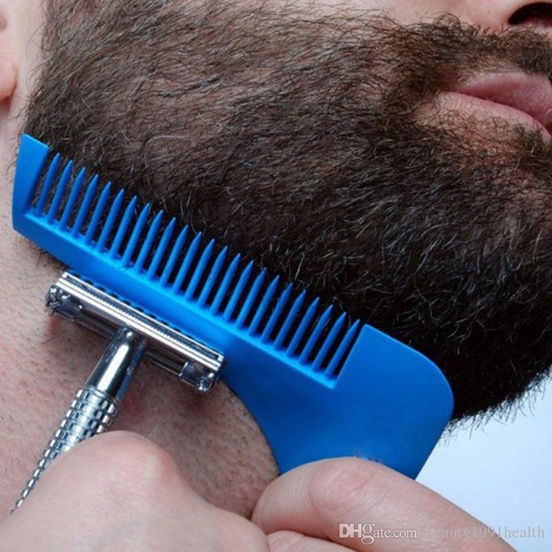 Nuevo Peine para barba Shapper Shaping Tools Gentleman Trim Template Corte de cabello Moldura Trimmer Barba Brush Comb Tool
