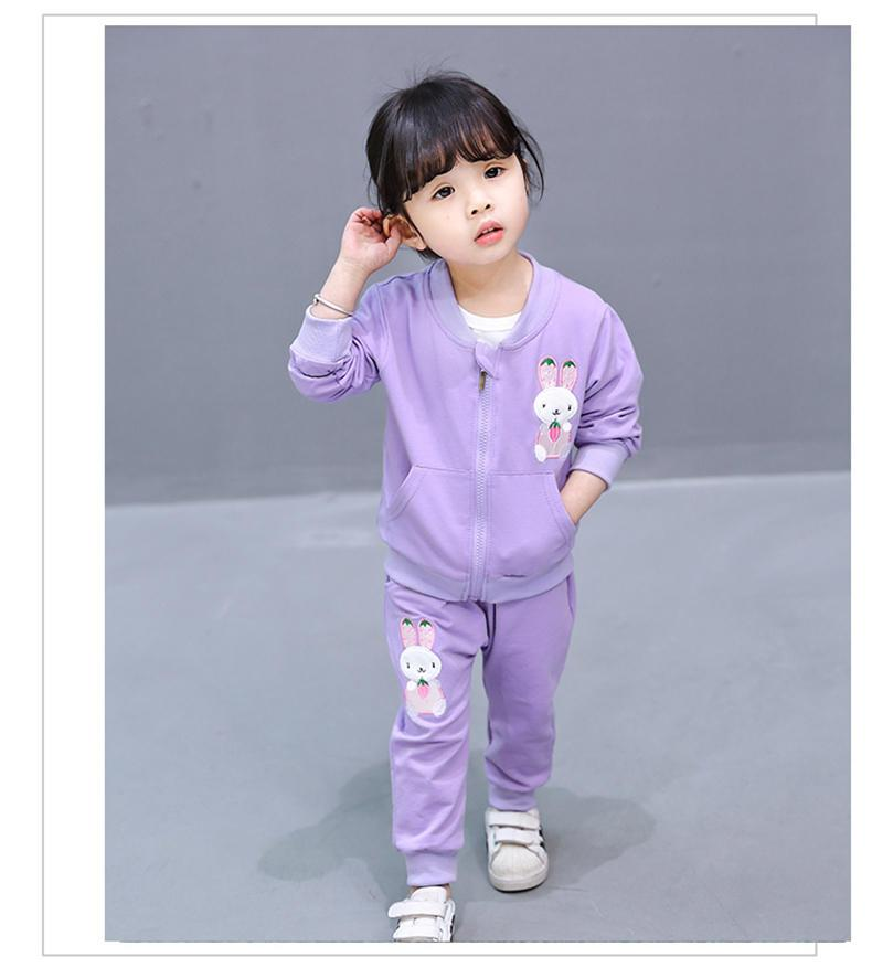 c33fcb76c 2018 New Fashion Baby Girls Clothing Sets Children Cartoon Jacket T ...