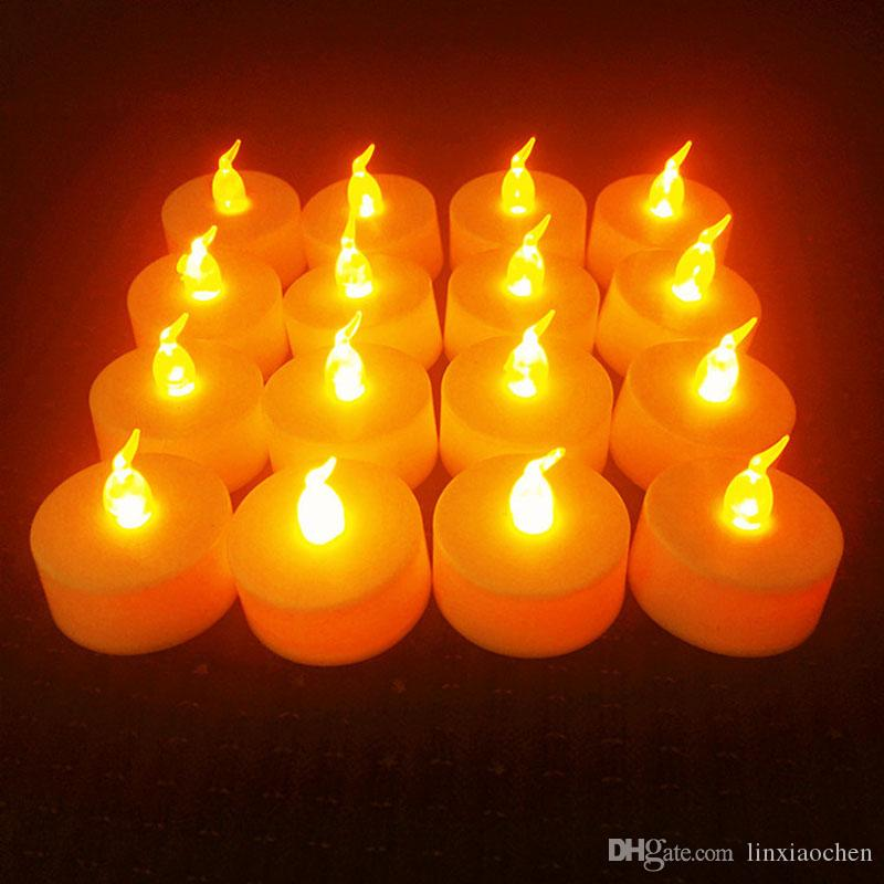 2018 24pschristmas lights battery operated flicker flameless led tealight tea candles light birthday party wedding christmas decoration from linxiaochen