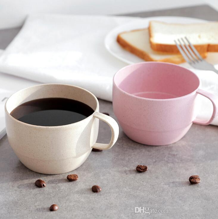 Wheat Straw European Coffee Cup Milk Breakfast Couple ...