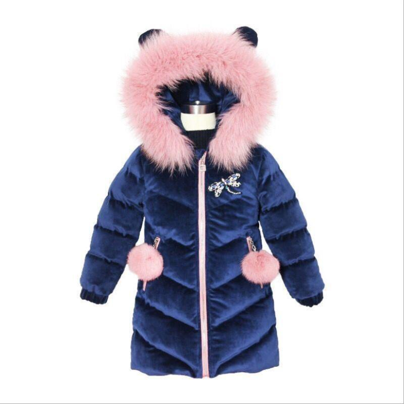 76546f2d40be Cold Winter Baby Girls Warm Clothes 4 16year Infant Coat 2018 New ...