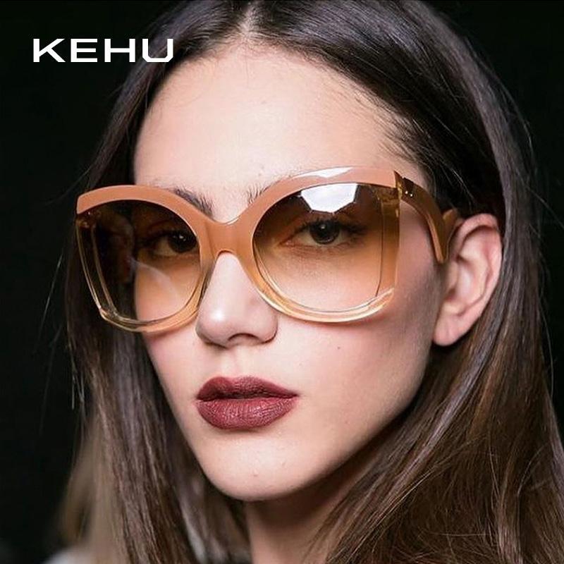 40a7c175d4 KEHU Sexiness Metal Rivets Frame Women Sunglasses Brand Design New ...