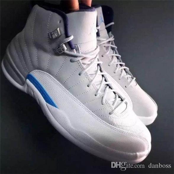 9e3d341be9e8 With Box 2018 Newest Men Basketball Shoes Sneakers 12S XII Flu Game ...
