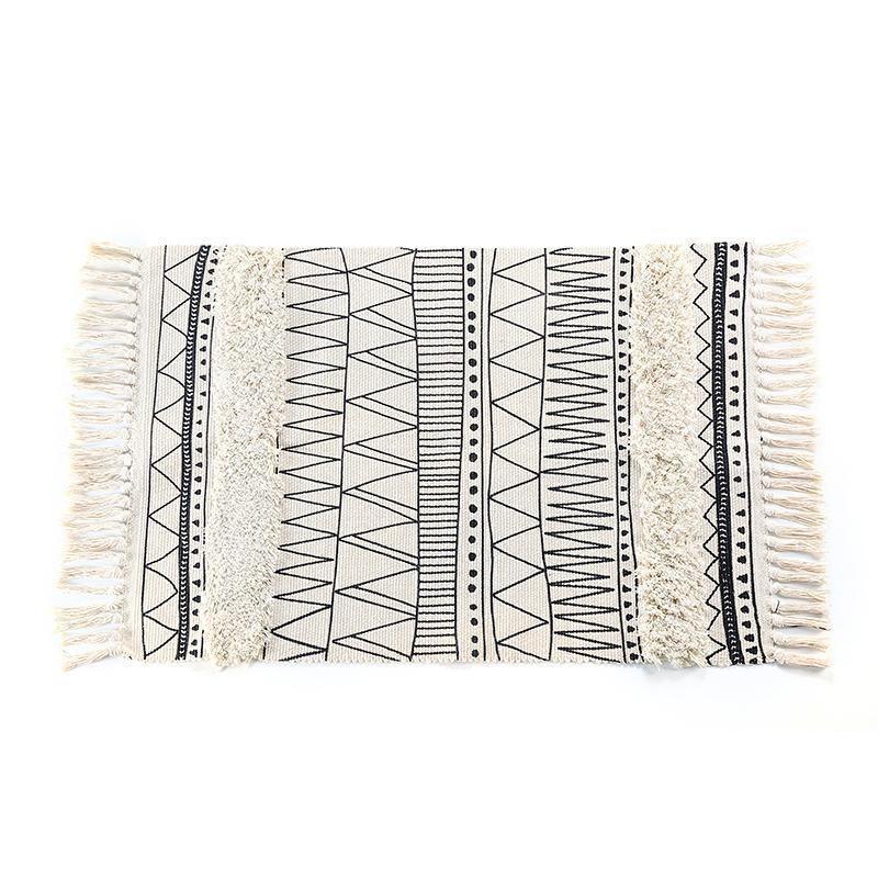 Großhandel Nordischen Stil Einfache Baumwolle Teppiche Für