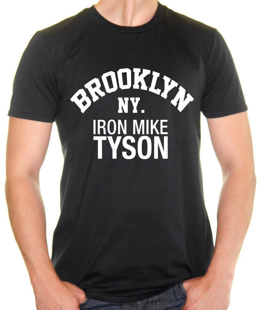 c2c7f2b4bfdc9 Acheter BROOKLYN NY. Iron Mike Tyson T Shirt Homme Boxe Tyson Tee Drôle  Expédition Gratuite Tee Unisexe De  12.96 Du Tshirt press