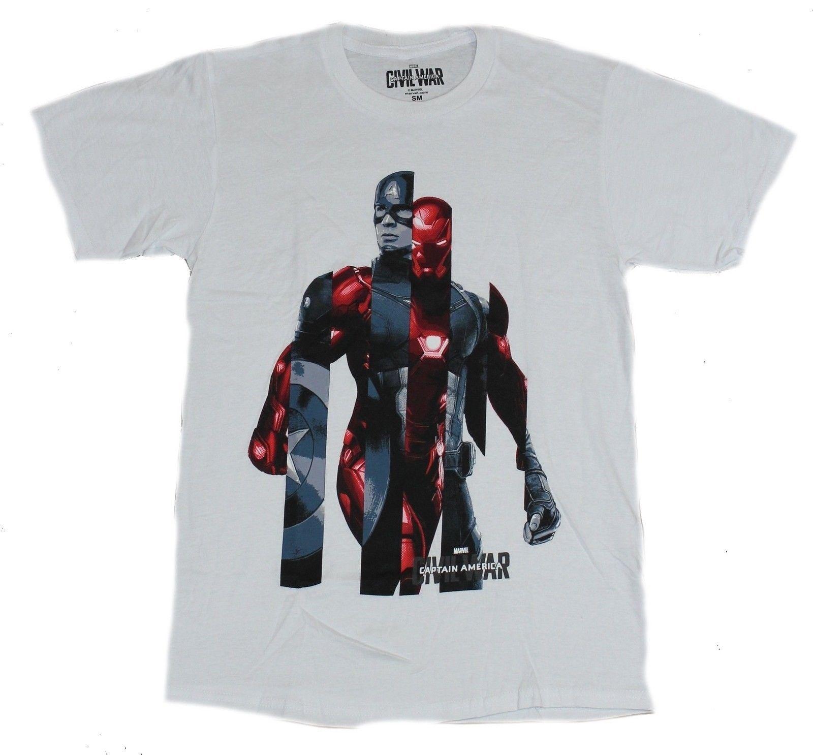 46df57779f Captain America Civil War Mens T Shirt 2 Part Iron Man Cap Interspersed  Image Tee Shirt Designers Funny Print T Shirts From Teevotshirts41