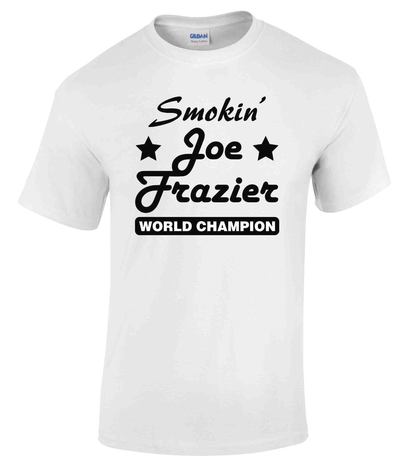 352da22c611d Compre Detalhes Zu Joe Frazier Smokin Camiseta Camisa De Boxe Ginásio  Workout Fitness Body Building Top De Lukehappy14, $12.96 | Pt.Dhgate.Com