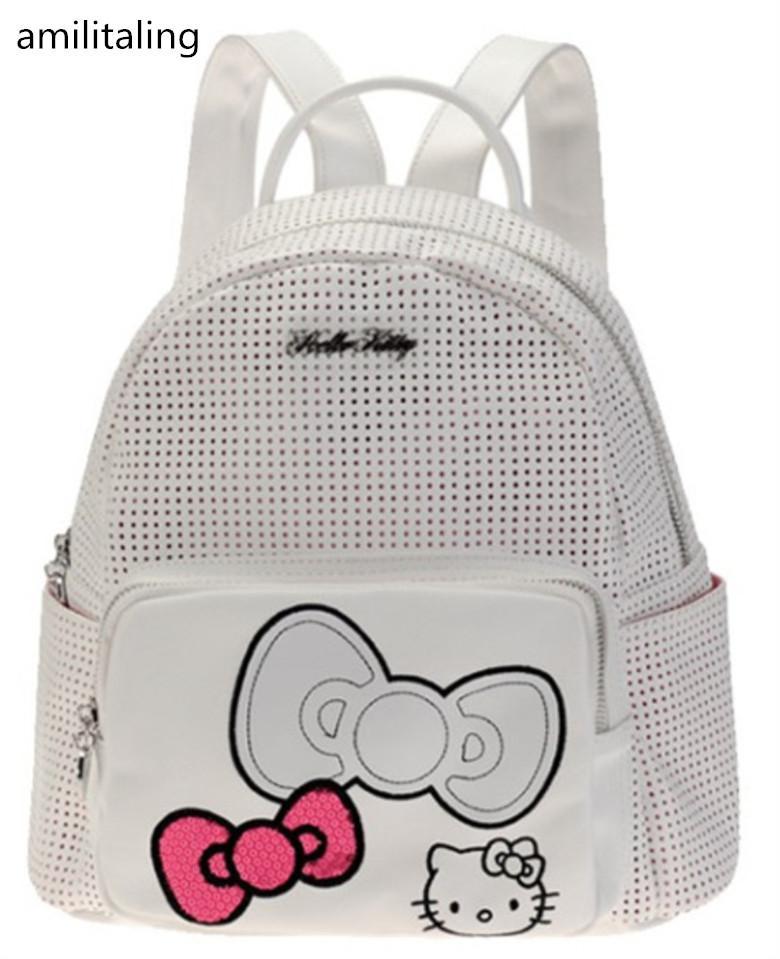 985ac23a2b Acquista New Cute Women Hello Kitty Girl Borsa Zaino Borsa GS 312 A $32.69  Dal Fwfling   DHgate.Com