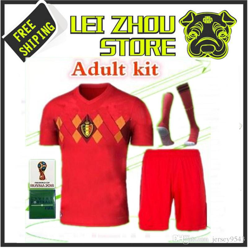 b78537f160a E.HAZARD Jersey Kit 18 19 World Cup Belgium Jersey 3 Kit 2018 ...