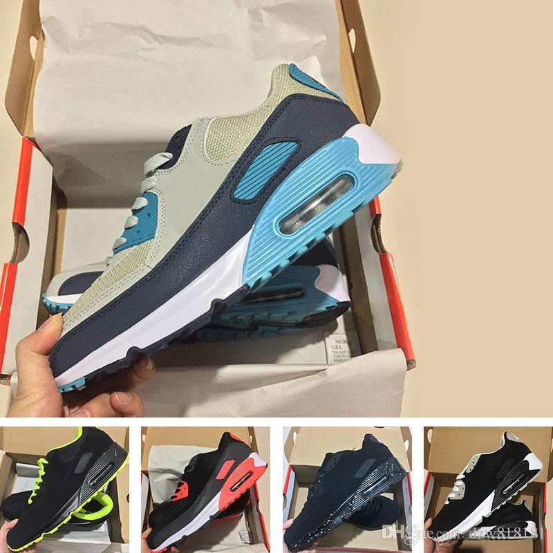 Herren Turnschuhe Schuhe klassische Nike Air Max 90 Ultra Männer und Frauen Laufschuhe Schwarz Rot Weiß Sport Trainer Luftpolster Oberfläche