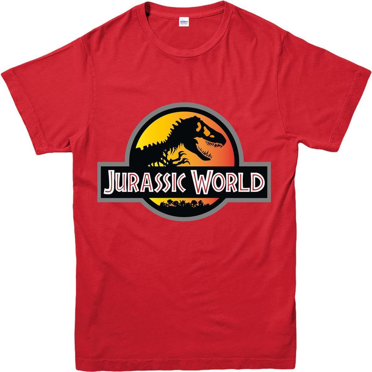 5a5bc9d6e3b Jurassic World T Shirt Movie Jurassic Park Logo T Shirt Dinosaur Ringer Tee  Shirts Online Cool Tee Shirts From Linnan00005