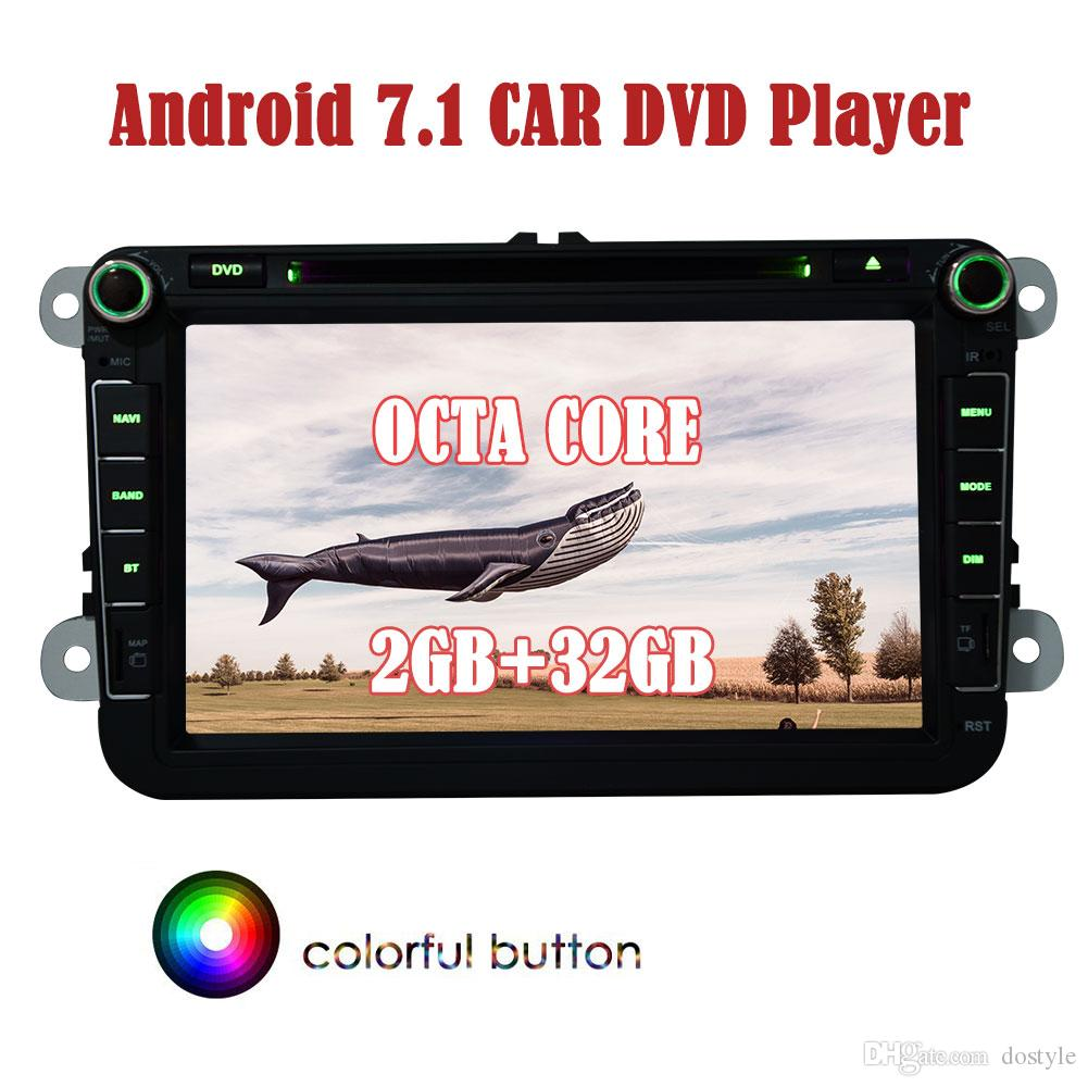 Android 7.1.2 GPS Radio 8 ''for VW Volkswagen Double Din car DVD PLAYER Navigation HeadUnit Car Audio Stereo 2GB+32GB 4G WIFI