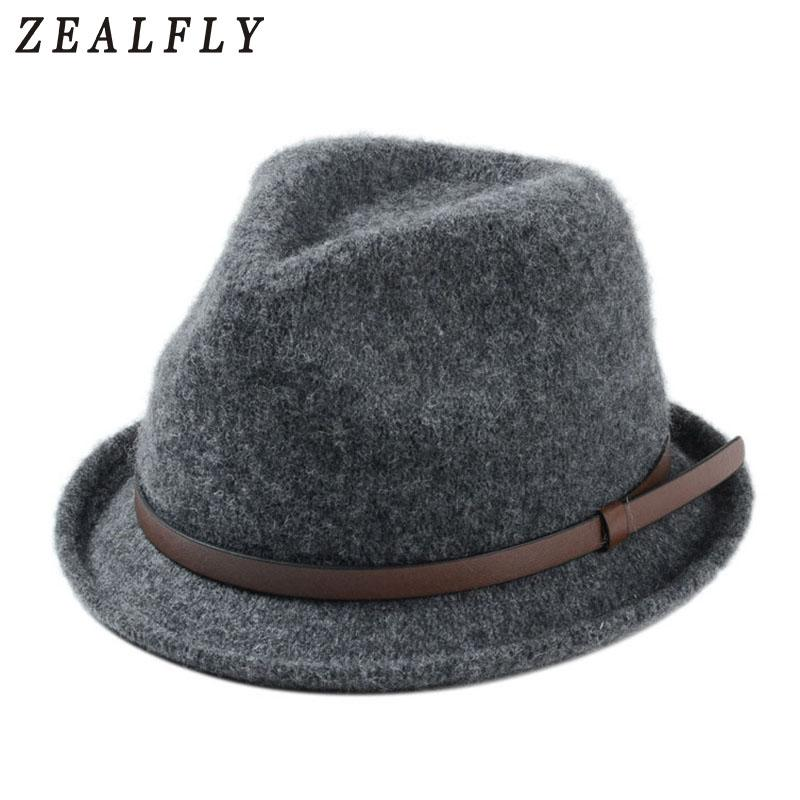 4d4b567a3f85c 2019 2018 New Winter Wool Fedora Hats For Women Or Men Crimping Panama Cap  Retro Jazz Hat From Boiline