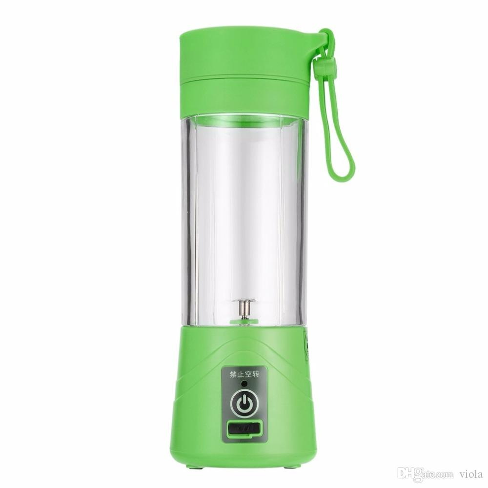 380ml USB Electric Fruit Juicer Handheld Smoothie Maker Blender Rechargeable Mini Portable Juice Cup Water Bottle