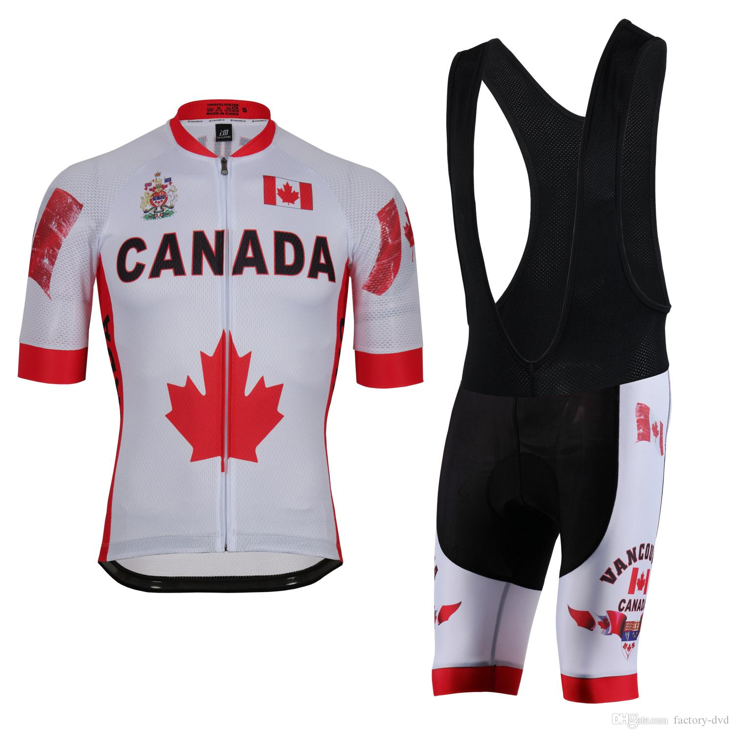 d19cf4a113839 Canada Cycling Jersey Polyester Quick Dry Pro Bike Jersey MTB Ropa Ciclismo  Team Sky Bicycling Maillot Shirts Cycle Clothes Biking Jerseys From Factory  Dvd