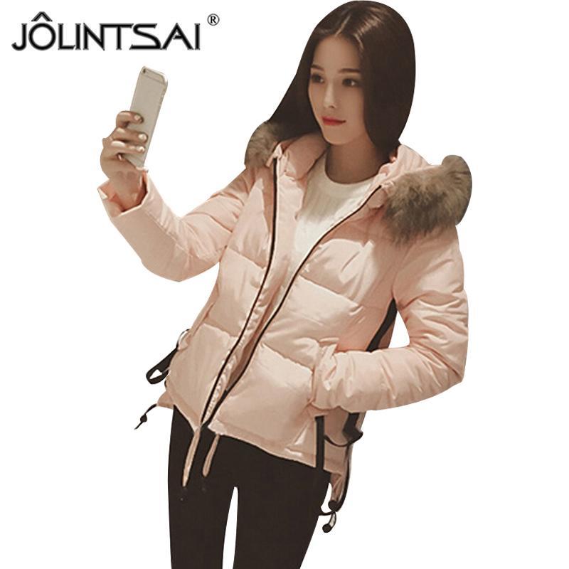 ee84605d5b72 JOLINTSAI Winter Jacket Women 2018 New Winter Coat Cotton Padded ...