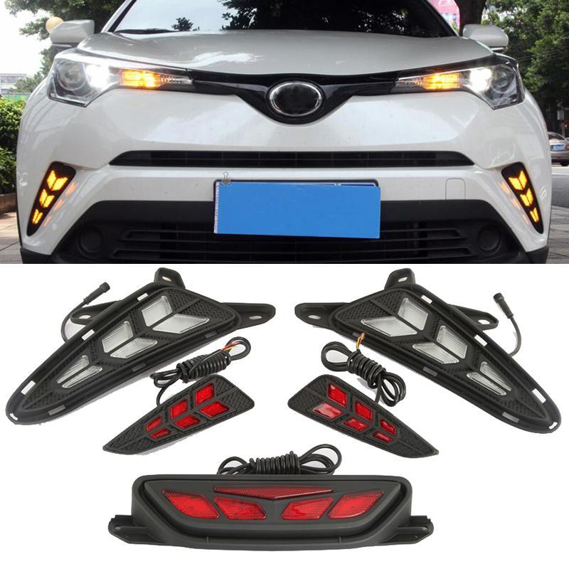 For Toyota CHR C-HR 2017 2018 LED DRL Daytime Running Lights Rear Bumper  Fog Lamp Turning Signal Brake Taillight Warning Light
