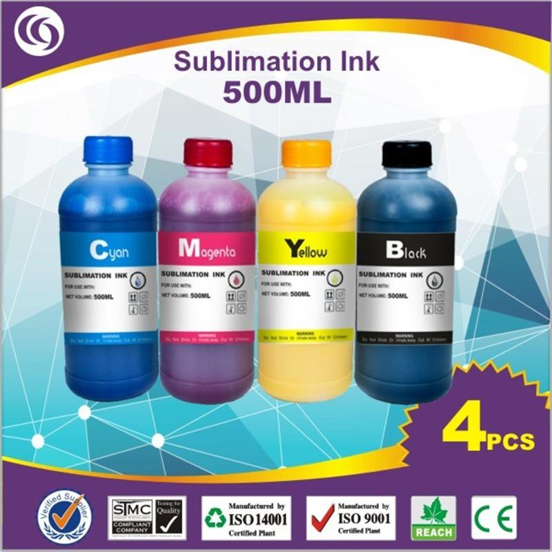 500ml*4 Disperse Dye Subl Fabric Paintings For Desktop printer dye subl  Printer CISS Ink