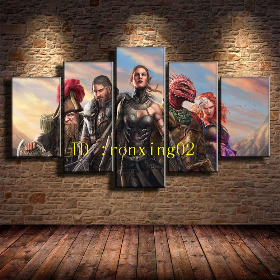 Divinity Original Sin Ii,5 Pieces Home Decor HD Printed Modern Art Painting on Canvas (Unframed/Framed)