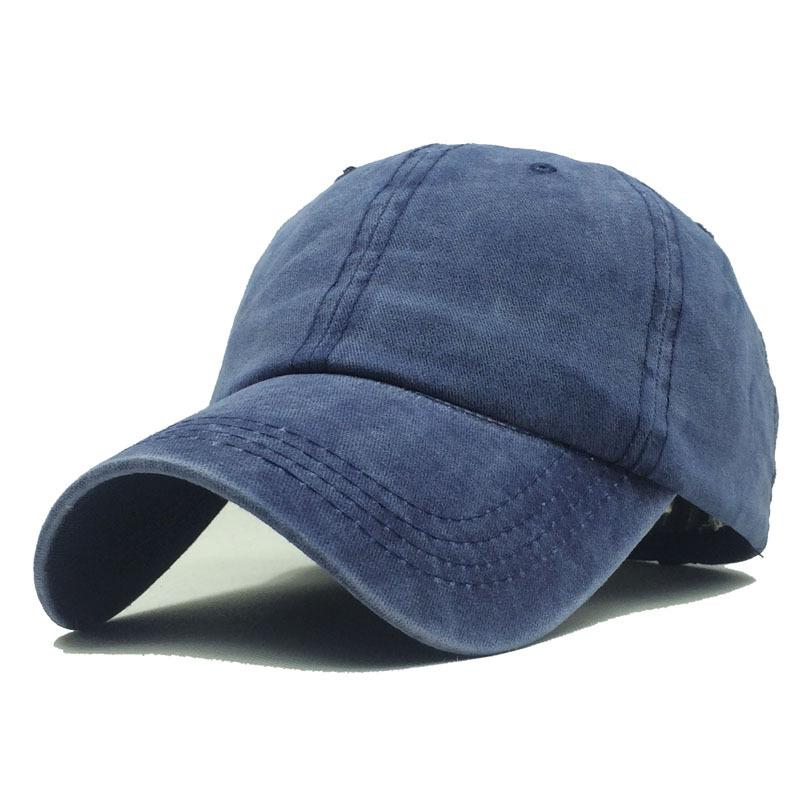 d5e95c95f39 High Quality Washed Cotton Adjustable Solid Color Baseball Cap Unisex  Couple Cap Fashion Leisure Dad Hat Snapback Beanies Kangol From Hongshaor