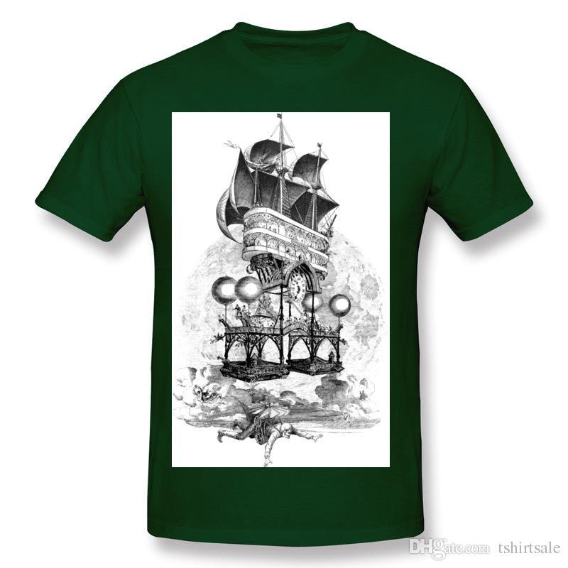 Mens Cotton Euthanasia Tee-Shirts Mens O-Neck Dark Green Short Sleeve T Shirts Big Size Design Tee-Shirts