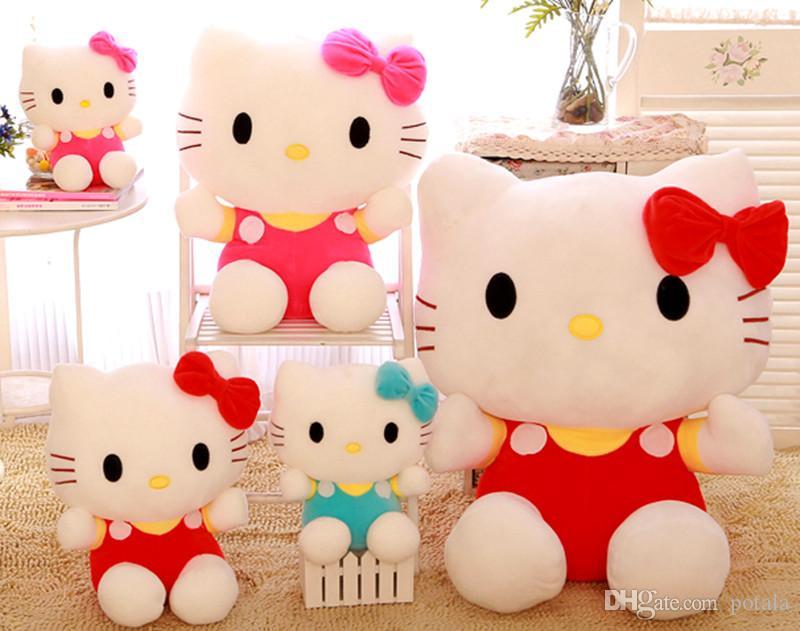 Hello Kitty Plush Toys : Amazon hello kitty plush doll auburn toys games