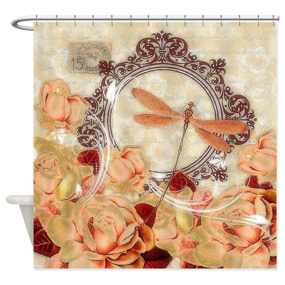 2019 Soft Orange Floral Decorative Fabric Shower Curtain From Huayama 3327