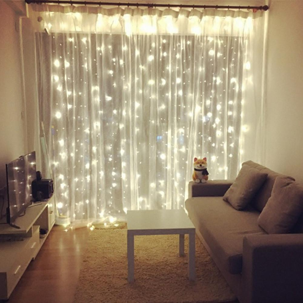 New Year 4.5M X 3M Outdoor Curtain Icicle LED String Lights 8 Modes ...