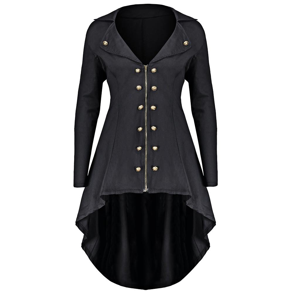 0aedd32fd3f Gamiss Autumn Winter Jacket Women Double Breast Plus Size 5XL 4XL High Low  Coat Lapel Long Zip Up Coat Solid Womens Outwear Jackets Sale Black Leather  ...
