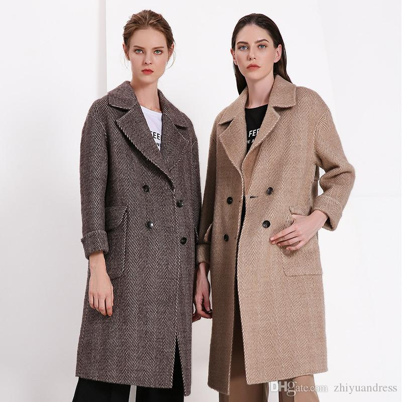 Designer Cashmere Coats | Fashion Designer Trench Coats Alpaca Cashmere Women Clothes Blends