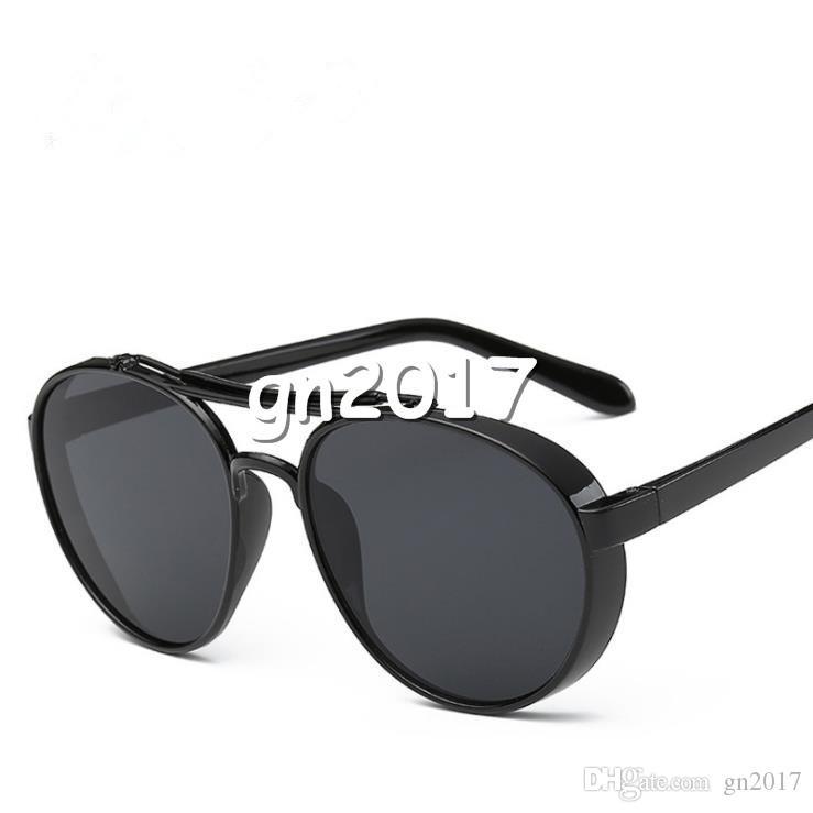 Moda Kadın Erkek Retro Güneş Gözlüğü Büyük Çerçeve Dazzle Renk Güneş Gözlükleri Gözlükler Renkli Film Adumbral Gözlük