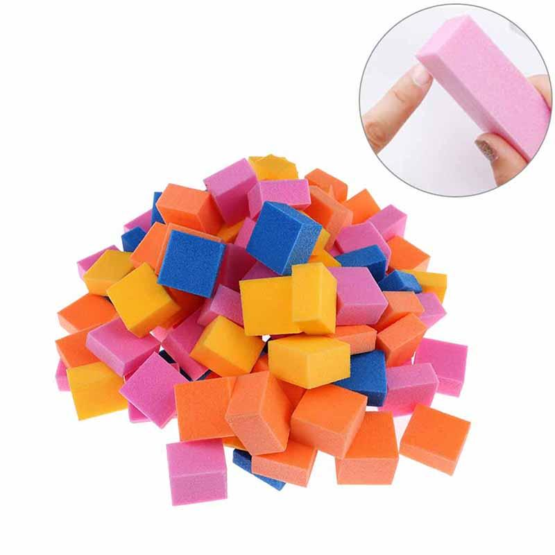 1 Bag Random Color Colorful Mini Irregular Nail Buffers Sanding Sponge Files Grinding Polishing Nail Art Tool