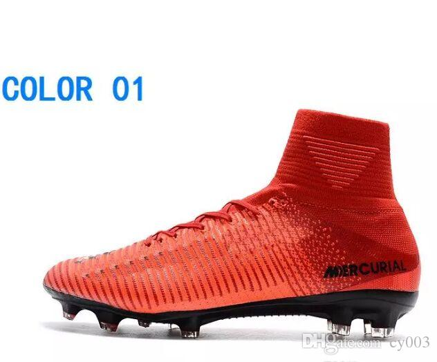 d563c6c14f27 2018 Mercurial Superfly V FG Fire Red Black Mens Soccer Boots Shoes  Mercurial Superfly V X Fire