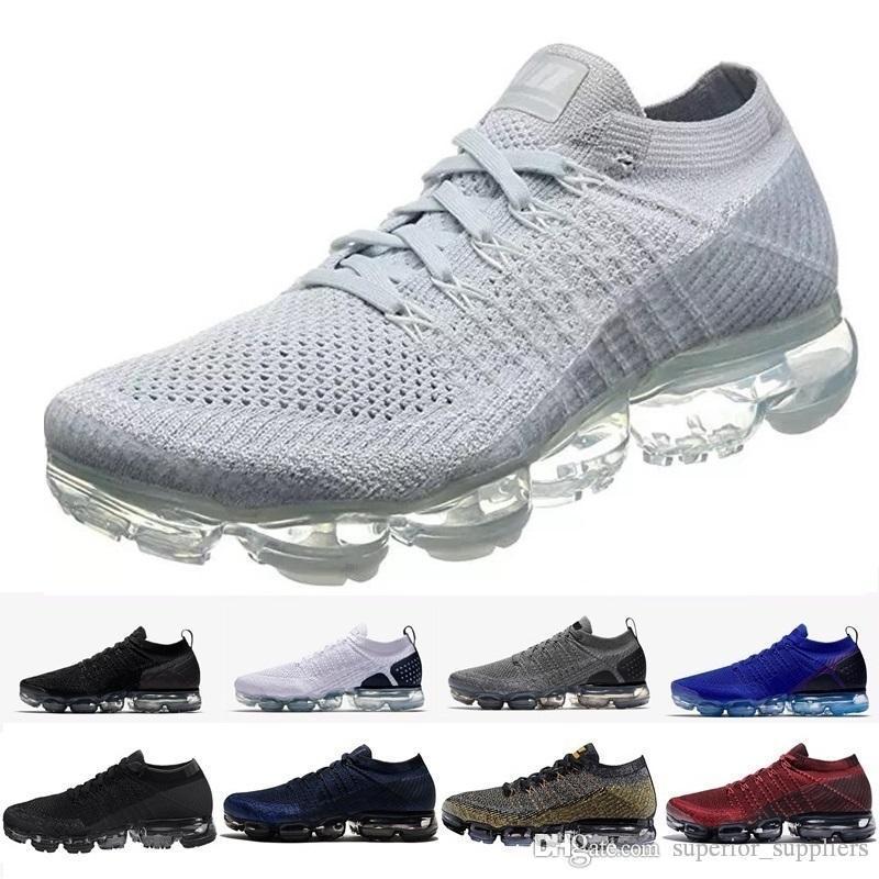 9759370339543 Acheter 2018 Nike Air Vapormax Max Vapor Flyknit Nouveau VM Vente Lumière  Sneakers Doux Femmes Respirant Athlétique Sport Chaussures Corss Randonnée  Jogging ...