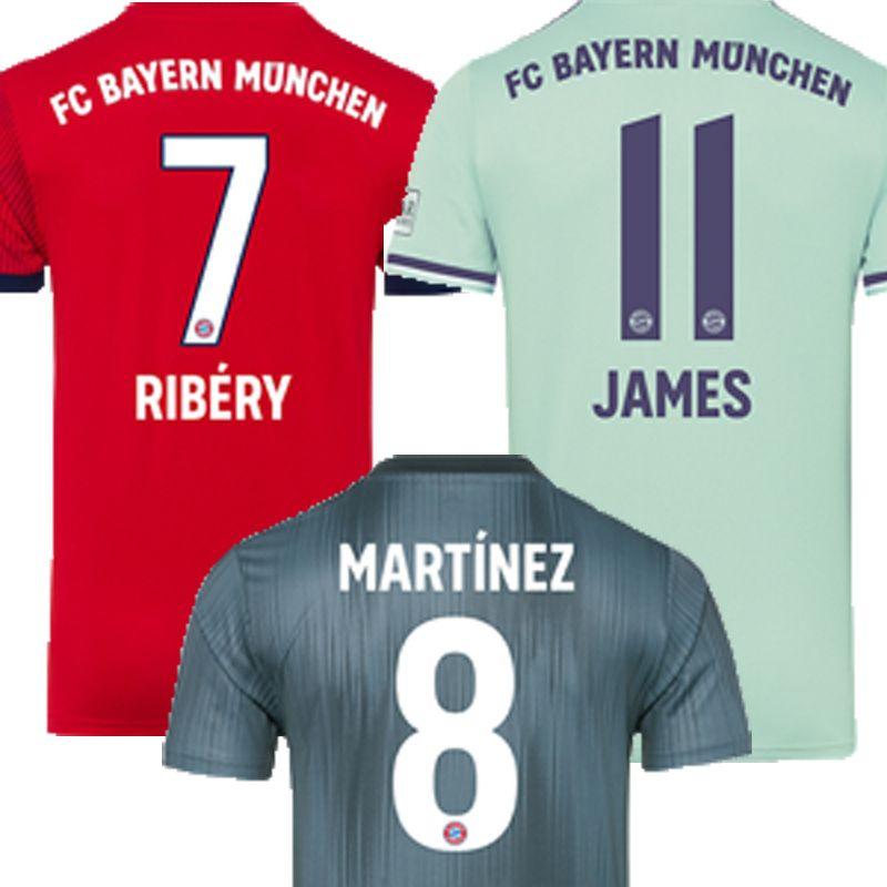 2019 Bayern Munich Soccer Jersey Kids Kits Polyester Clothes 5 HUMMELS 7  RIBERY 8 MARTINEZ 10 ROBBEN 11 JAMES Football Shirts Uniform 2019 From  Tiangeltg 8faa3c031