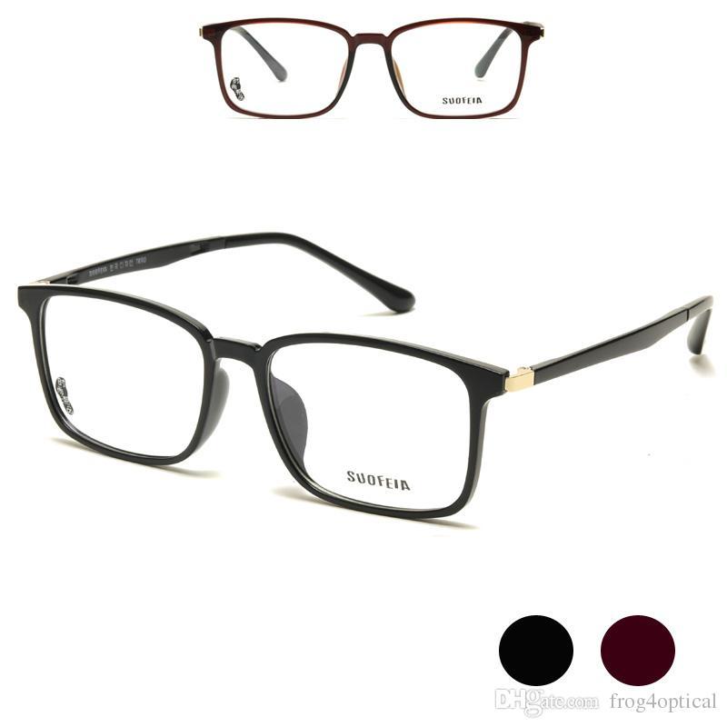 191cd5faf8 Compre Anteojos Gafas Graduadas Marcos Gafas TR90 Borde Completo Negro  Marrón Índice De Miopía 1.56 1.61 1.67 A $19.29 Del Frog4optical |  DHgate.Com
