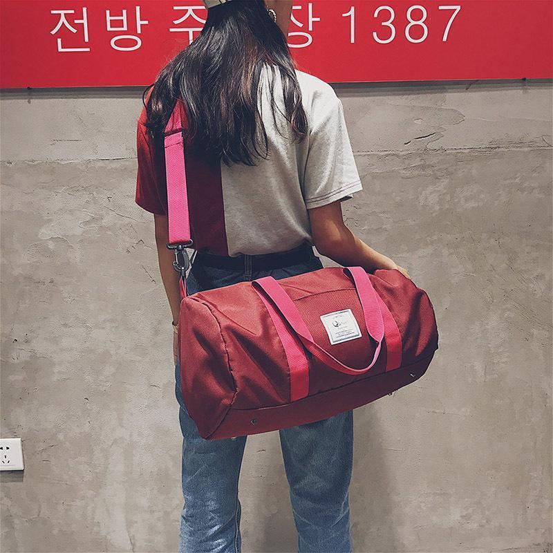 eaf5e1c9f9 Large Capacity Fashion Handbag Travel Bags Men And Women Sports Fitness Bag  Soft Messenger Bags Cylinder Handbags Oxford Black Women Bag Discount  Handbags ...