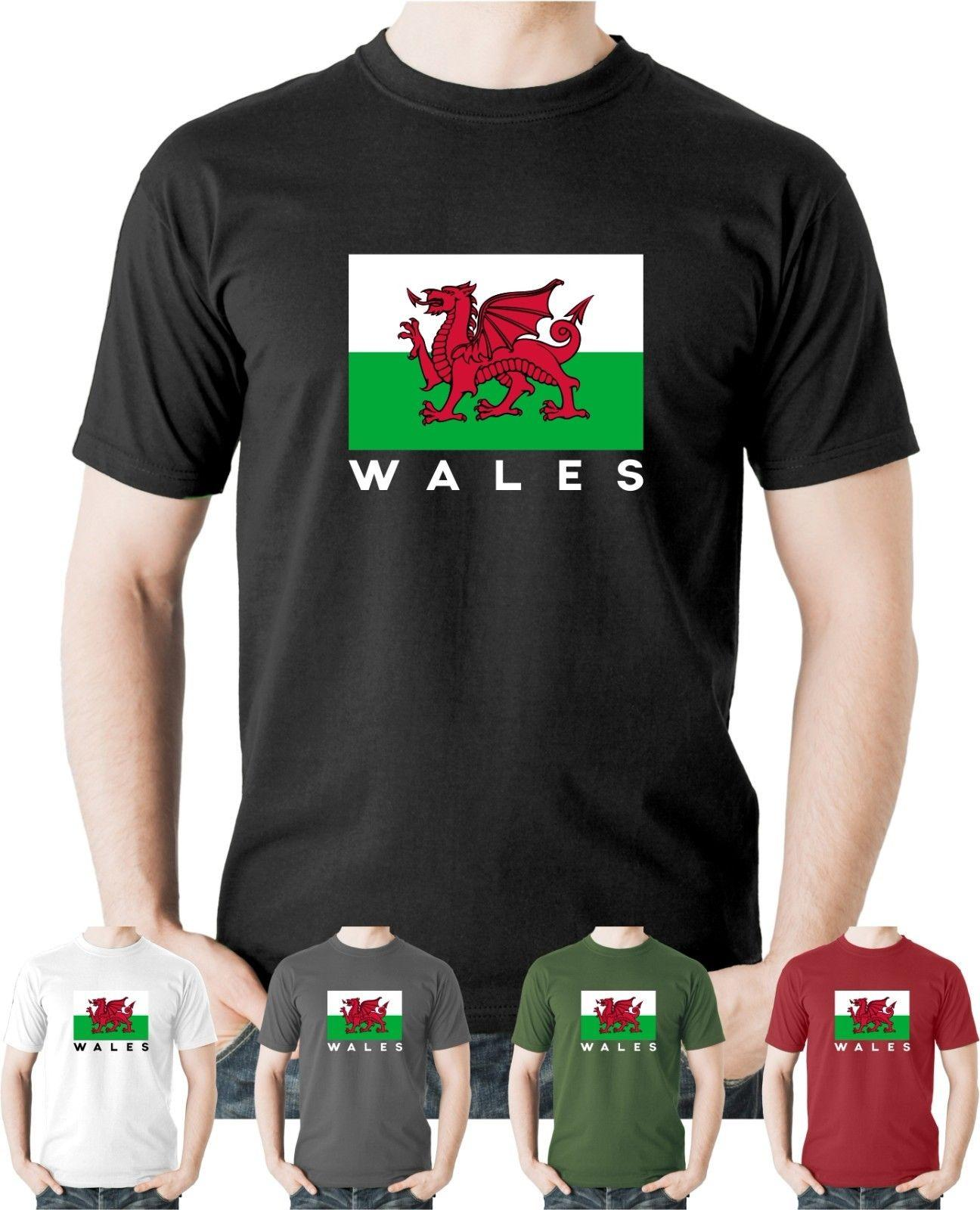 601fc81564d Wales Cymru Nations T Shirt World Cup Welsh Flag Football Rugby Cotton Tee  UKFunny Unisex Tee Tee Shirt Funny Tee Shirt Designers From Topclassaa, ...